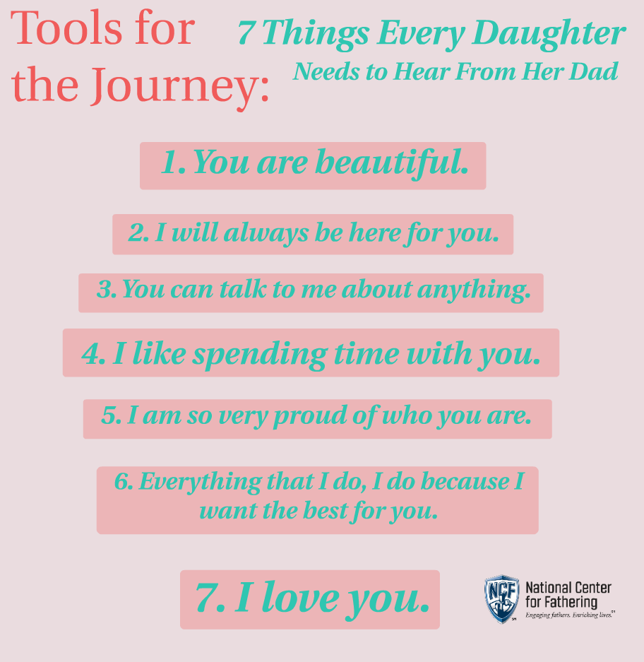 7 Things Every Daughter Needs To Hear From Her Dad National Center