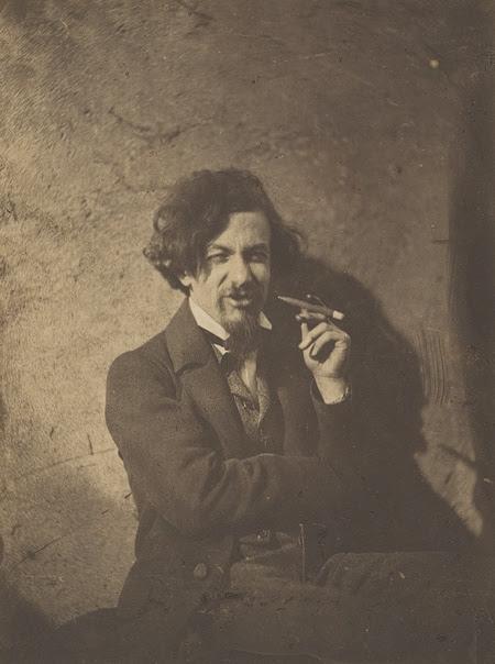 Gustave Le Gray fotografiado en 1854 por Alphonse De Launay . Metropolitan Museum of New Yory