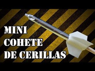 Como Hacer Mini Cohetes de Cerillas Casero