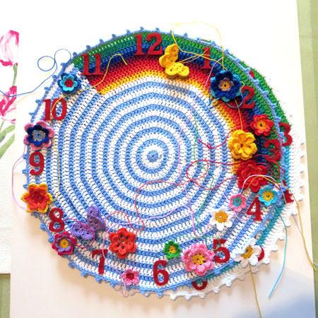 Crochet-clock-1-occupancy-flowers