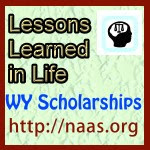 Lessons Learned in Life Scholarships for Wyoming students