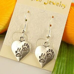new-Wholesale-6-Pair-Lot-Lady-Charm-Fashion-Jewellery-Silver-Love-Stud-Earring