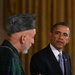 President Obama with President Hamid Karzai of Afghanistan during a press conference at the White House on Friday.