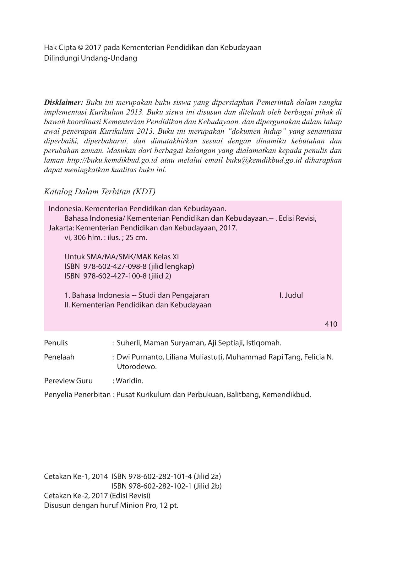 Kelas 11 SMA Bahasa Indonesia Siswa 2017 Pages 251 300 Text Version