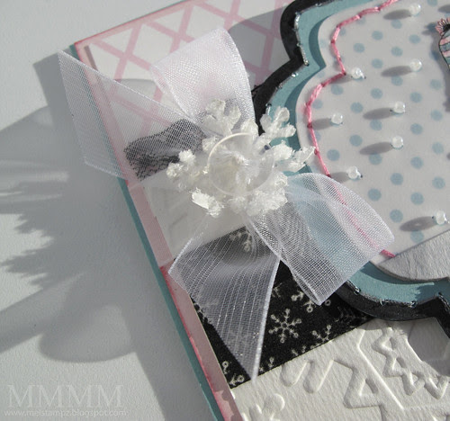 girl and dog card fuzzy snowflake box & diy paper mel stampz