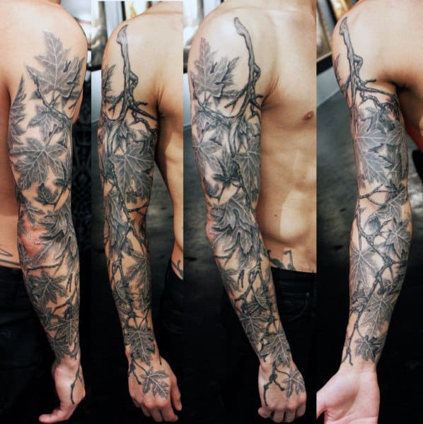 60 Leaf Tattoo Designs For Men The Delicate Stages Of Life