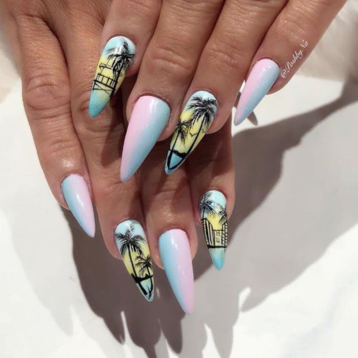 Fun Vacation-Themed Nail Ideas | Fashionisers