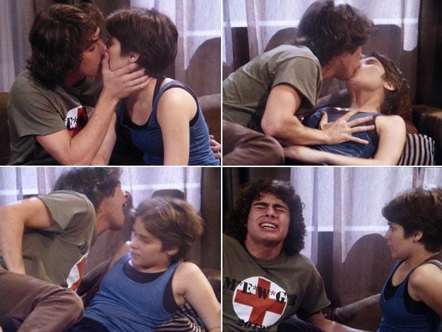 Pedro não segura mão boba e sofre consequências (Foto: TV Globo)