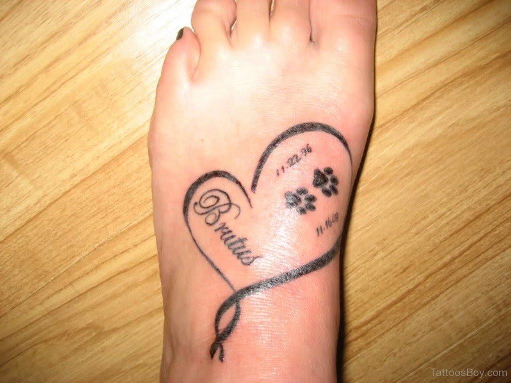 Heart Tattoo On Foot Tattoo Designs Tattoo Pictures