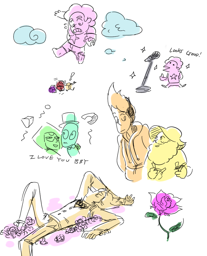 """not-an-oyster: """" drawpile doodlies for this week's SU episodes """""""