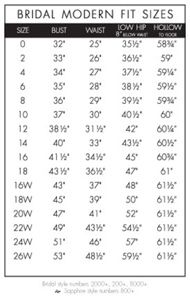 Wedding dress size chart canada seven things you probably didn t