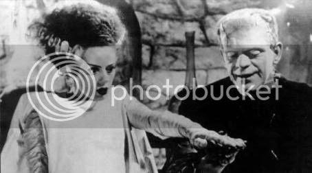 Elsa Lanchester and Boris Karloff in 'Bride of Frankenstein' (1935)