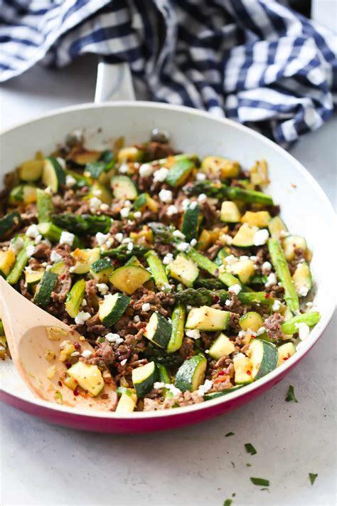 ground beef veggie skillet recipe primavera kitchen