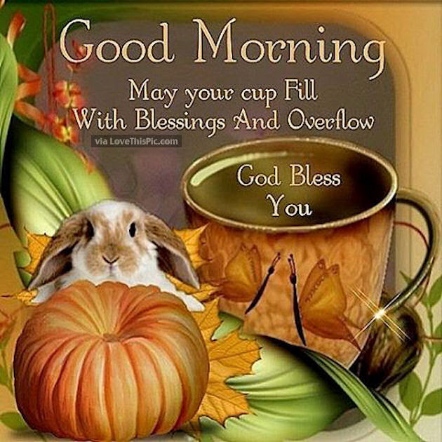 Good Morning May Your Day Be Filled With Blessings God Bless
