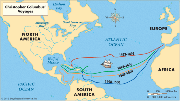 Christopher Columbus Ships On First Voyage