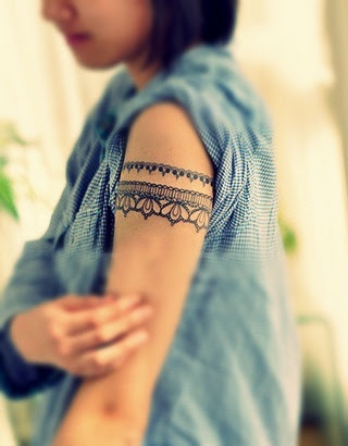 Adorable Women Lace Tattoo On Arm Tattoomagz