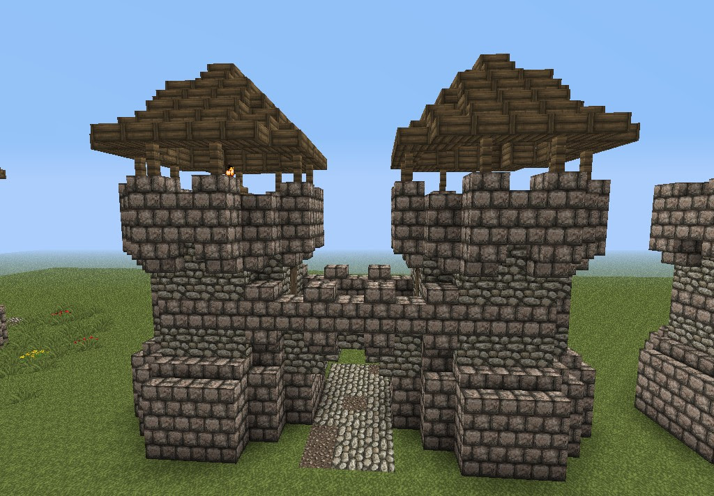 Medieval Gatehouse (small) (3 roof types) Minecraft Project