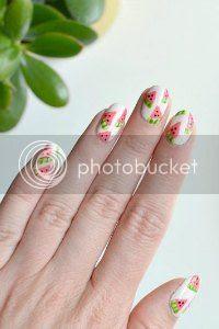 fruit nail art, watermelon nails tutorial, easy nails, nail art blog