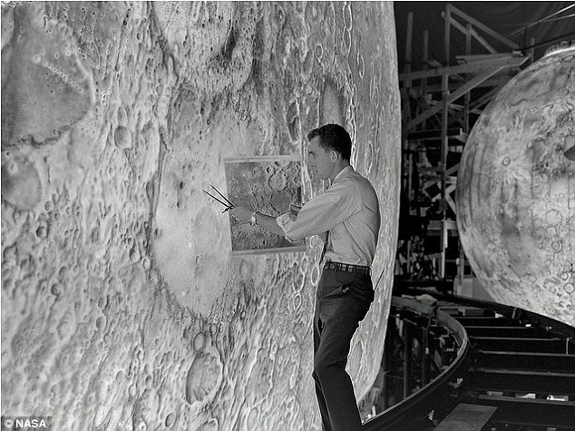 The surface of the simulators moon was perfectly detailed owing to the precise maps NASA had produced for the ambitious Apollo program announced in 1961