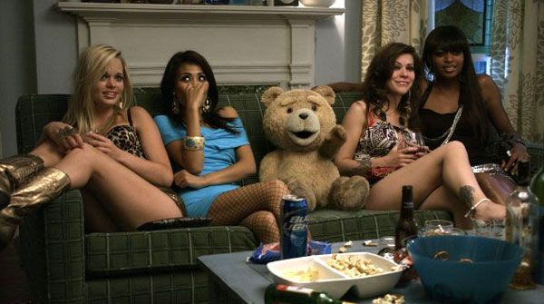 Ted parties with prostitutes in TED.
