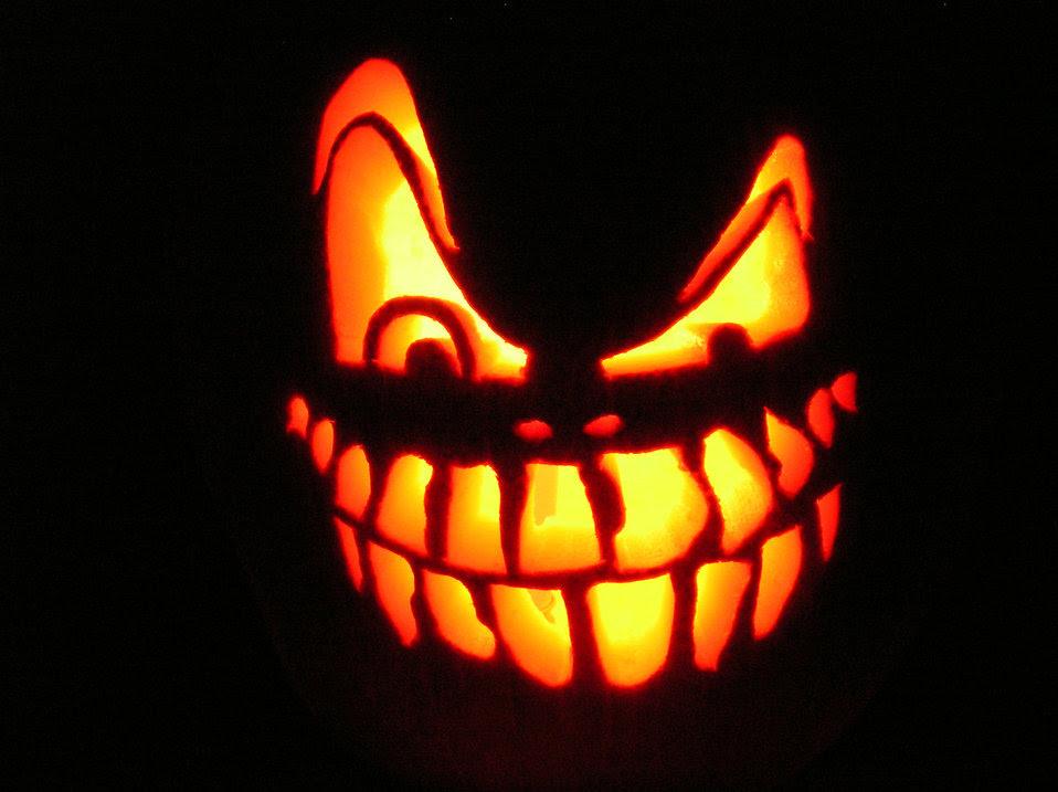 Jack O Lantern Free Stock Photo A Scary Halloween Jack O Lantern