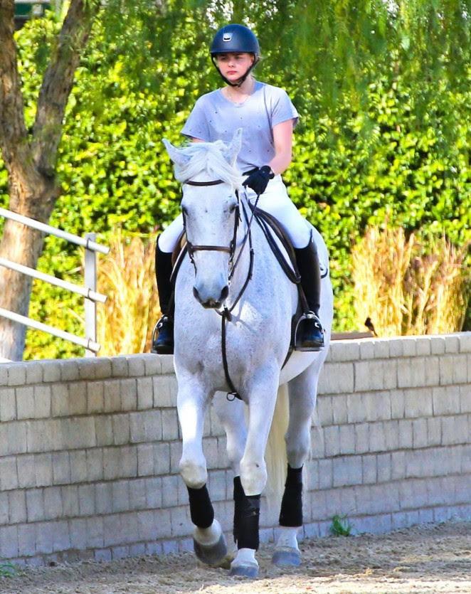 Chloe Moretz: Riding a Horse -02