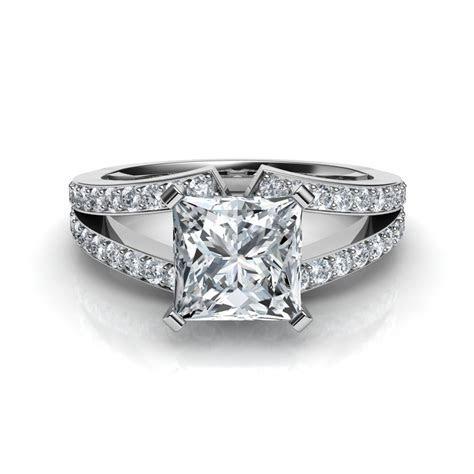 Split Shank Princess Cut Engagement Ring Natalie Diamonds