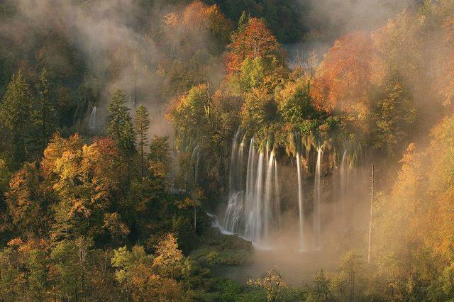 Plitvice Waterfalls, National Park of Croatia.