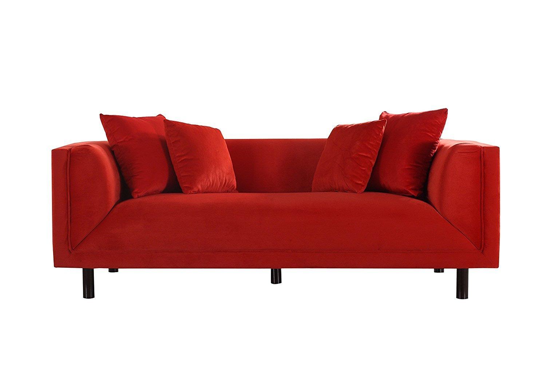 Mid Century Classic Velvet 3 Seater Sofa - Home Furniture ...