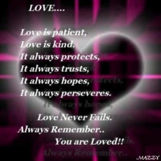 Love Is Patient Love Is Kind It Always Protects It Always Hopes