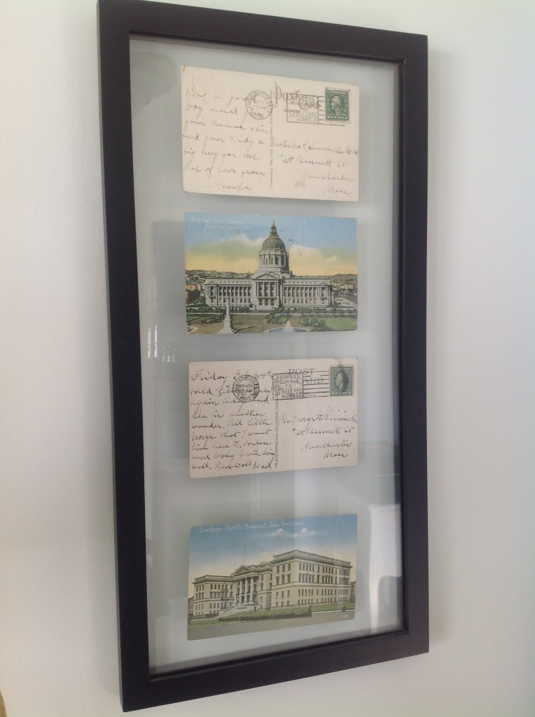 From My Front Porch To Yours- How I Found My Style Sundays: Snazzy Little Things framing vintage postcards