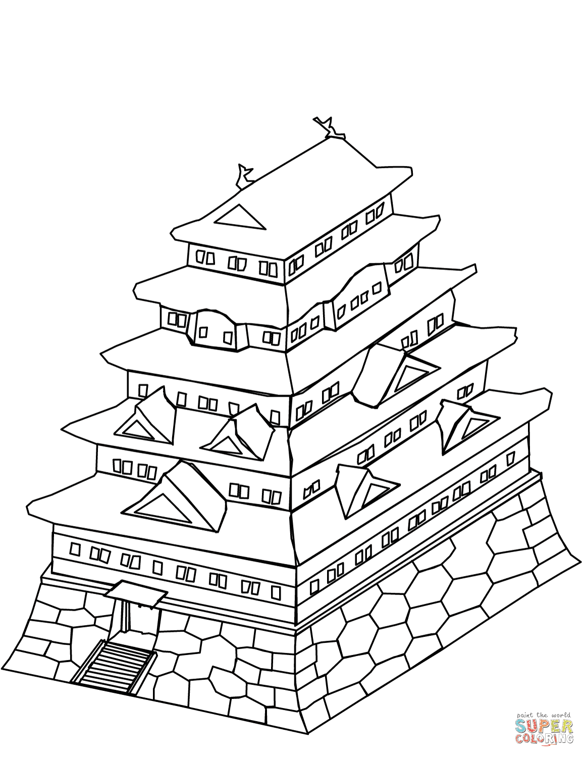 540 Coloring Pages Japan Pictures