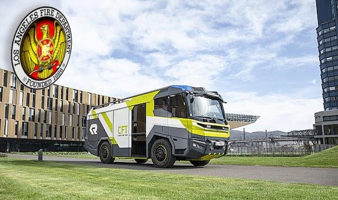 Лос-Анджелес получил первую в США электрическую пожарную машину