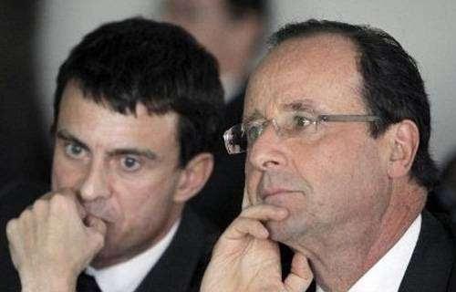 Manuel Valls e François Hollande