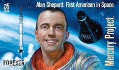 ALAN SHEPARD - FREEDOM 7 // TIMBRE DES 50 ANS