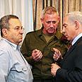 Gantz, Barak and Netanyahu Photo: Kobi Gideon, GPO