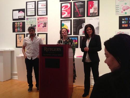 Kazim Ali, Jayne Anne Phillips, and Nathalie Handal, at Rutgers-Newark