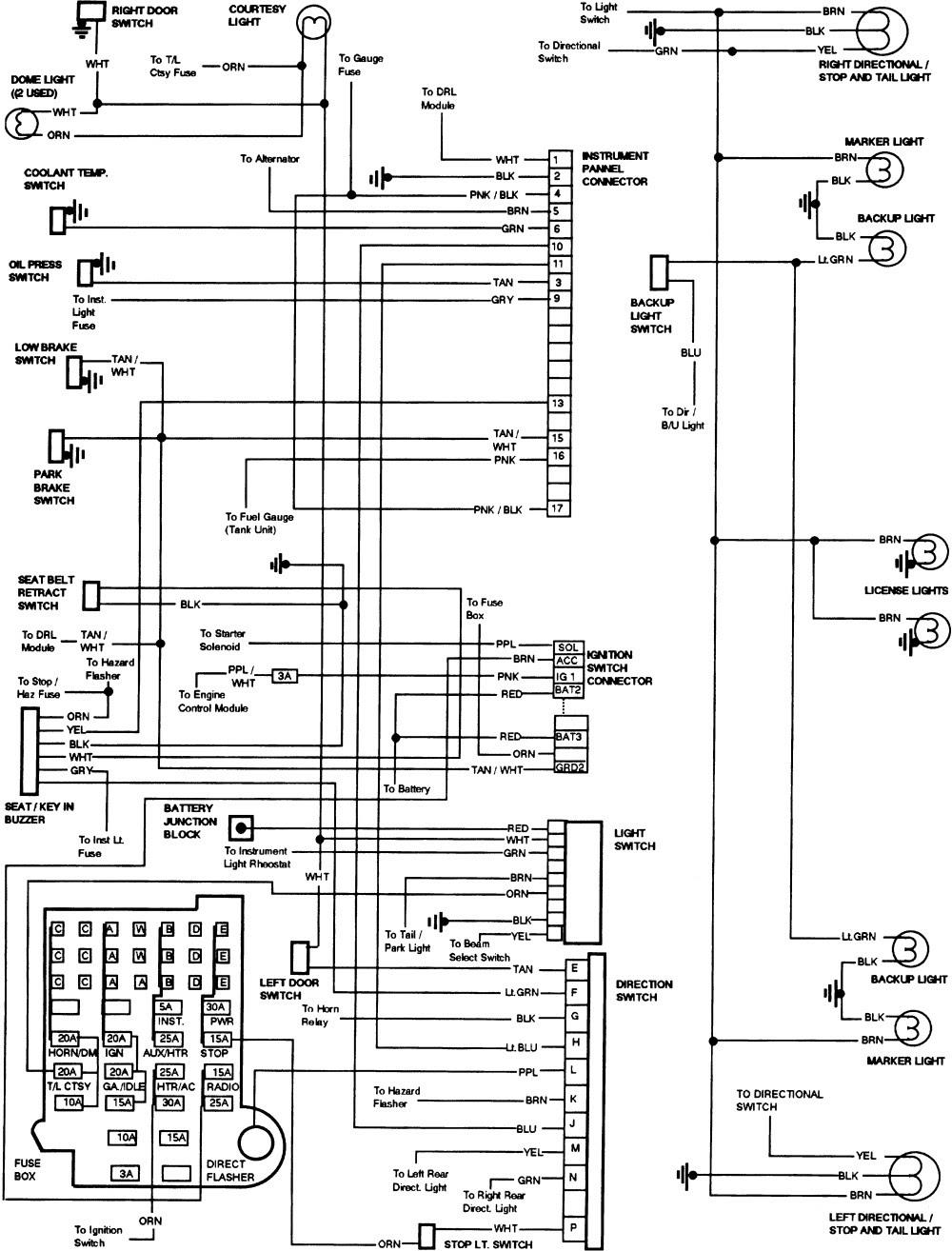 1990 Chevy Silverado Steering Column Wiring Diagram ...