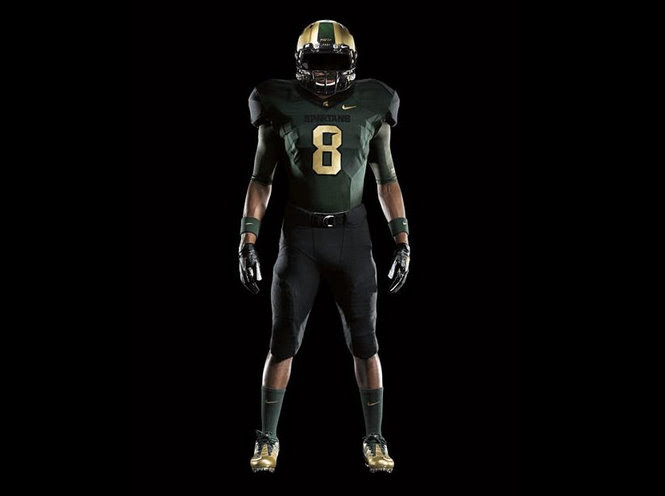 Michigan State Pro Combat uniforms
