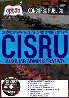 Apostila Concurso CISRU 2017 | AUXILIAR ADMINISTRATIVO