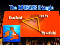 Map of the Rhubard Triangle