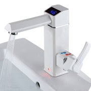 Electric faucet with digital display