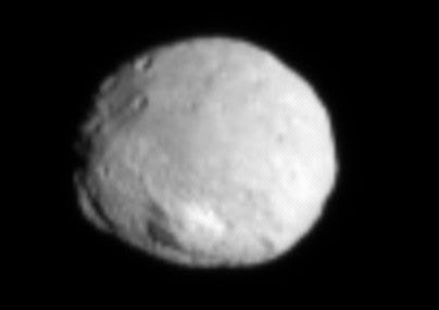 An image of asteroid Vesta that was taken by the Dawn spacecraft on July 1, 2011.