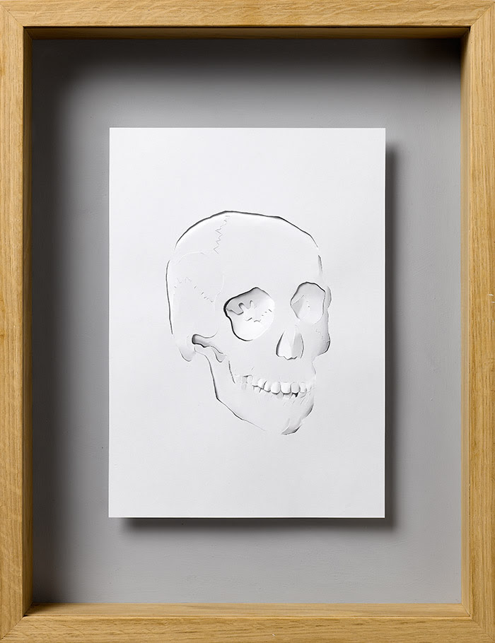 15 ghost 11 25 Striking Framed Papercuts by Peter Callesen