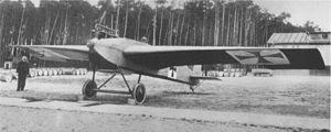 El Junkers J 1 en Döberitz a finales de 1915.