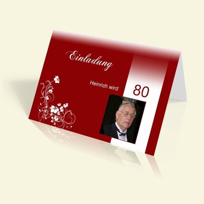 Einladungskarten Zum 80 Geburtstag Einladungen Selbst