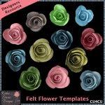 Felt Flower Templates 1 CU4CU