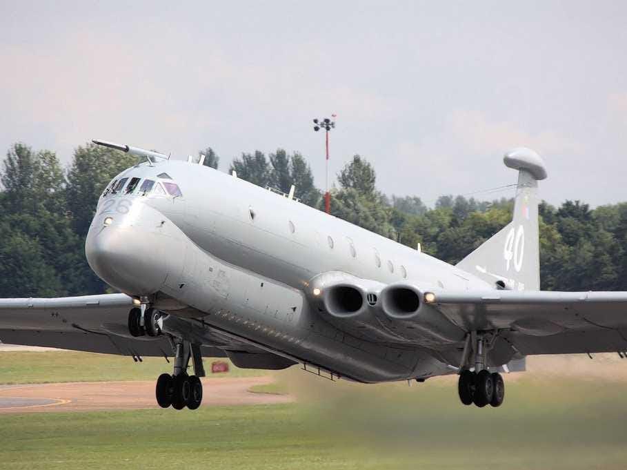 A Nimrod plane taking off in 2009