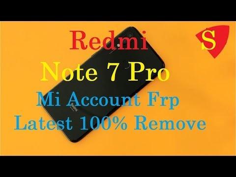 Redmi Note 7 Pro (violet) mi account unlock file | Redmi note 7 Pro mi account frp unlock by softichnic