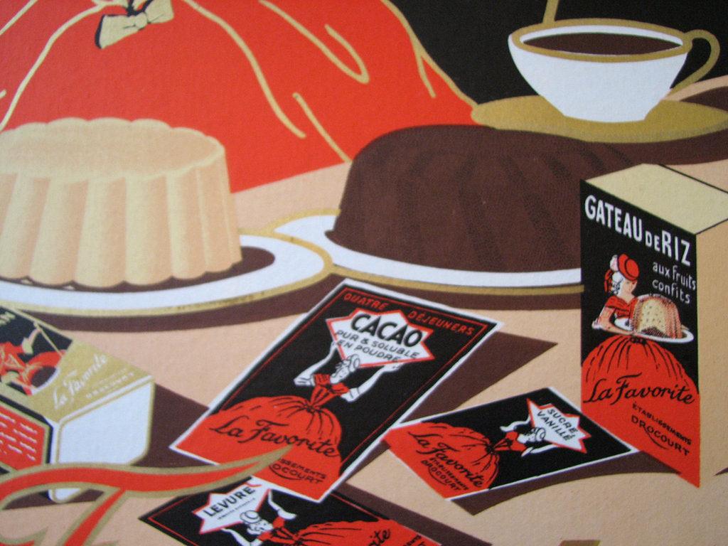 1930 S French La Favorite Cocoa Desserts Vintage Food Poster Vintage Poster Works Debra Clifford